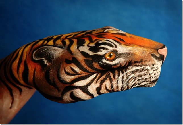 creative hand painting pictures